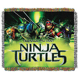 TMNT Movie Poster Tapestry Throw