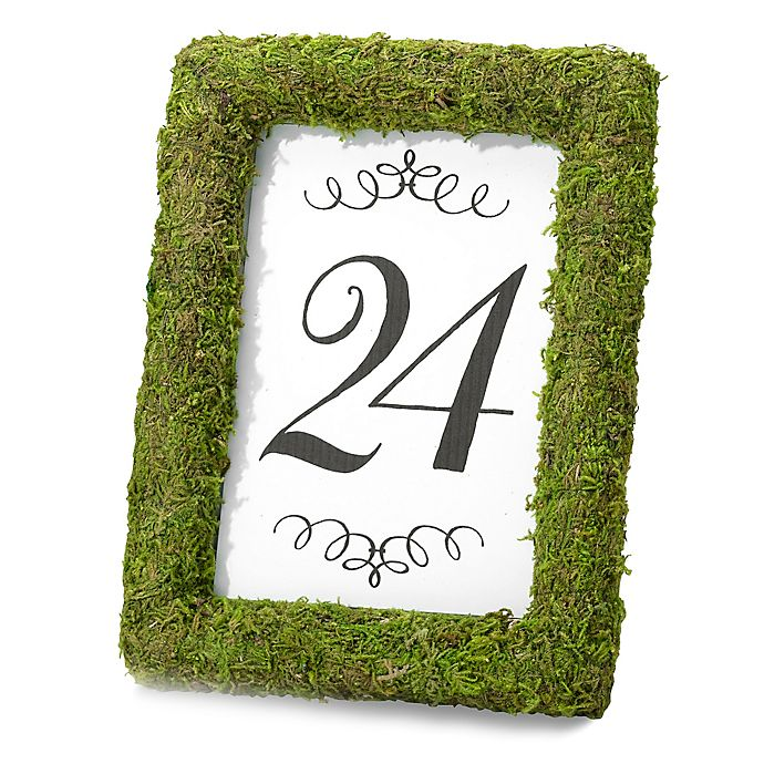 Alternate image 1 for Lillian Rose™ Moss 4-Inch x 6-Inch Table Frame in Green