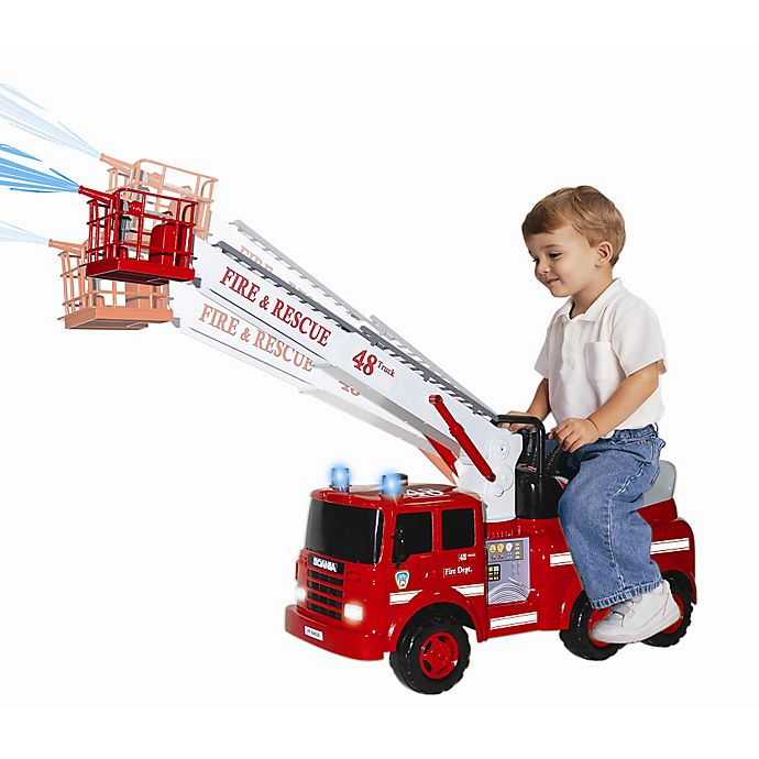 Alternate image 1 for Action Fire Engine Ride-On