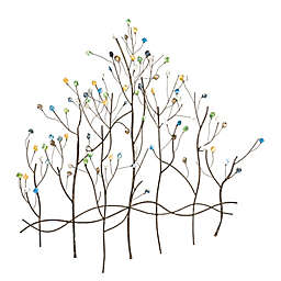 Southern Enterprises Gemstone Forest 32-Inch x 32.5-Inch Wall Sculpture