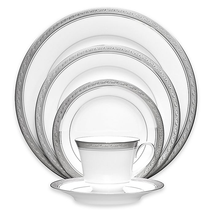 Alternate image 1 for Noritake® Crestwood Platinum Dinnerware Collection