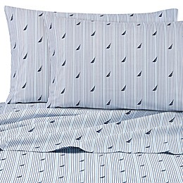Nautica® Audley 200-Thread-Count Twin XL Sheet Set in Blue