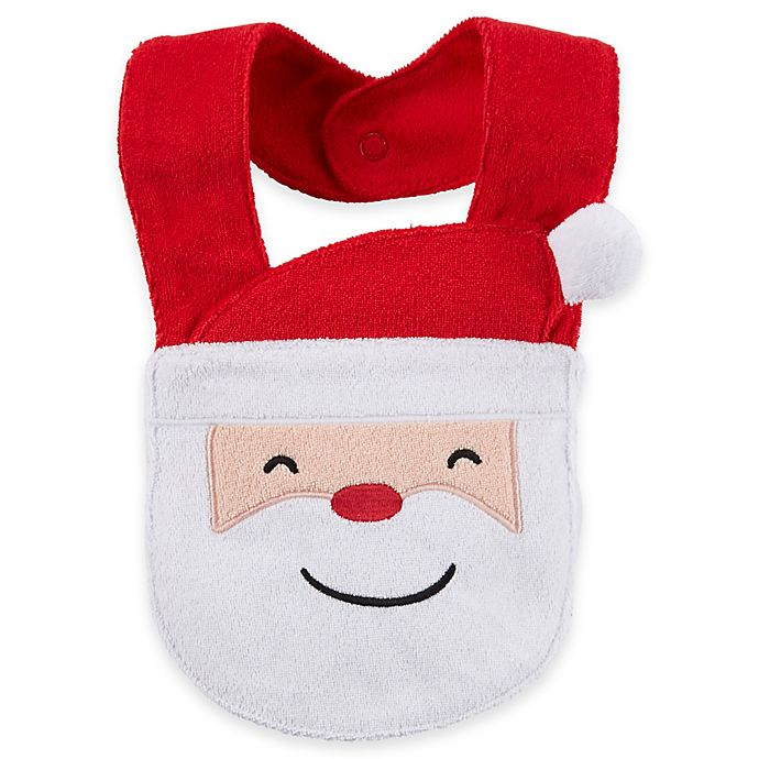 Alternate image 1 for carter's® Christmas Santa Face Bib in Red