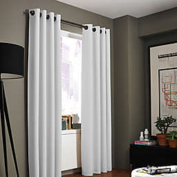 Kenneth Cole Reaction Home Gotham Texture 108-Inch Lined Grommet Window Curtain in White