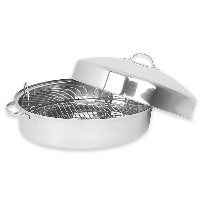 Oneida 174 Stainless Steel 18 Inch X 12 Inch Oval Domed