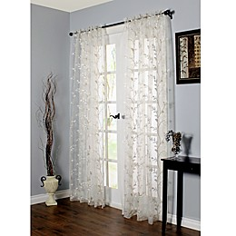 Venice Embroidered Window Curtain Panel in White