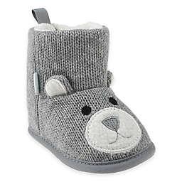Capelli New York Bear Knit Slipper in Grey