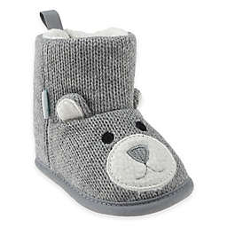 Capelli New York Bear Knit Slipper in Grey