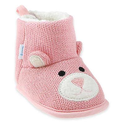 Capelli New York Bear Knit Slipper in Pink