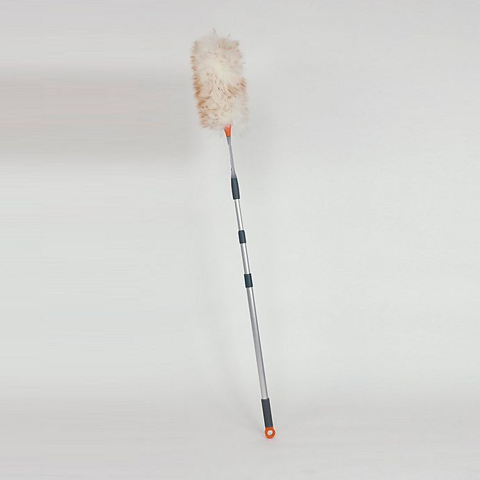 Alternate image 1 for Casabella® Extandable Lambswool Duster in Grey/Orange