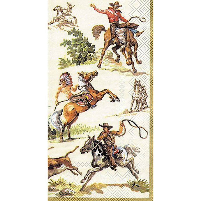 Alternate image 1 for 16-Count Wild West Paper Guest Towels