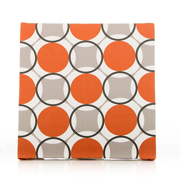Alternate image 1 for Glenna Jean Echo Circles Print Canvas Wall Art in Tangerine