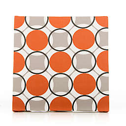 Glenna Jean Echo Circles Print Canvas Wall Art in Tangerine