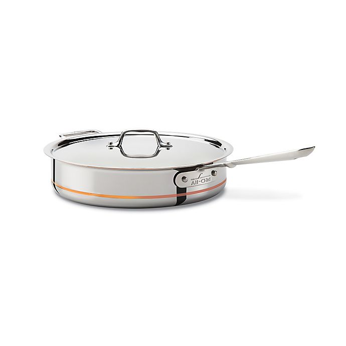 Alternate image 1 for All-Clad Copper Core® 5 qt. Covered Sauté Pan with Helper Handle