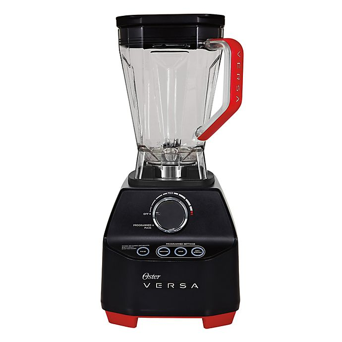 Alternate image 1 for Oster® Versa Performance Blender with 64 oz. Low Profile Jar in Black/Red