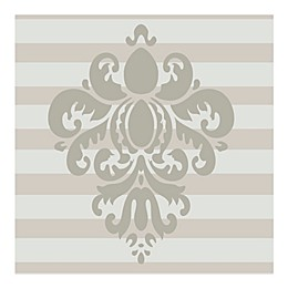 Glenna Jean Contessa Damask Vinyl Wall Decal in Grey