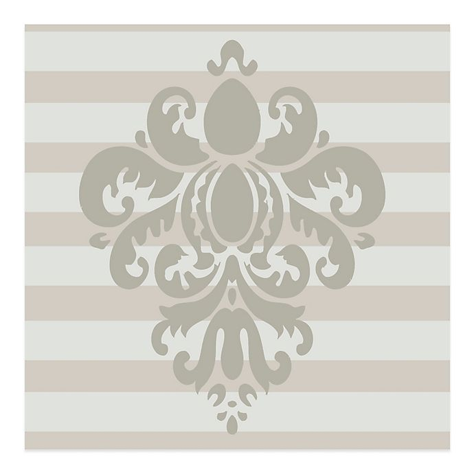Alternate image 1 for Glenna Jean Contessa Damask Vinyl Wall Decal in Grey