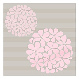 Glenna Jean Flower Balls Vinyl Wall Decal in Pink