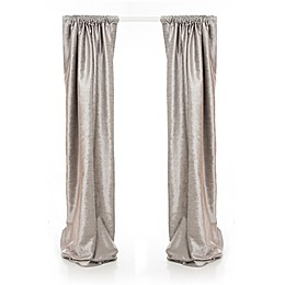 Glenna Jean Fly-By 90-Inch Window Curtain Panels in Grey (Set of 2)