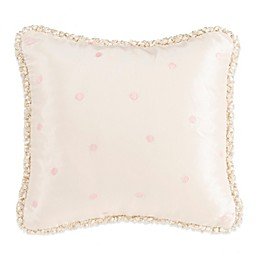 Glenna Jean Contessa Dotted Square Throw Pillow in Cream/Pink