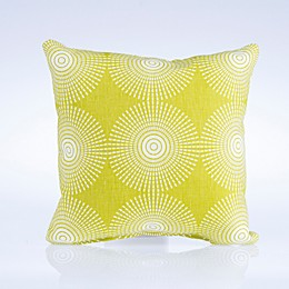 Glenna Jean Dylan Square Geometric Print Throw Pillow in Green