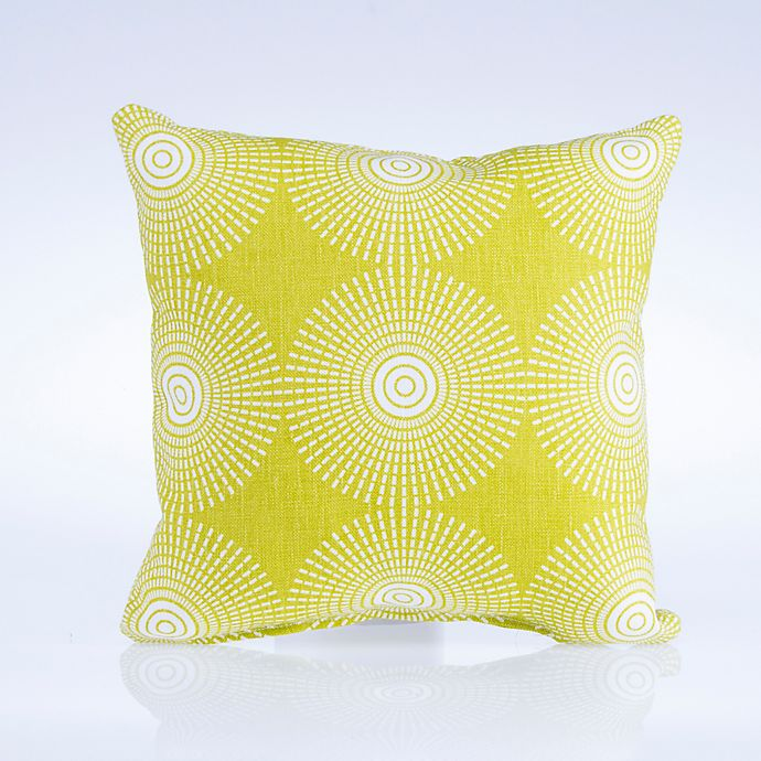Alternate image 1 for Glenna Jean Dylan Square Geometric Print Throw Pillow in Green