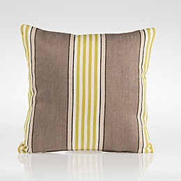 Glenna Jean Dylan Square Striped Throw Pillow in Green