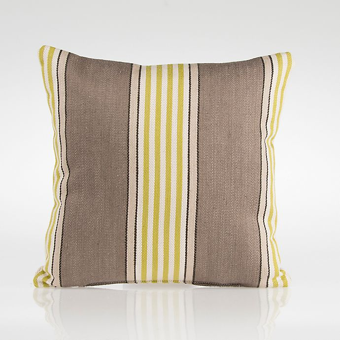 Alternate image 1 for Glenna Jean Dylan Square Striped Throw Pillow in Green