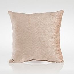 Glenna Jean Dylan Velvet Square Throw Pillow in Tan