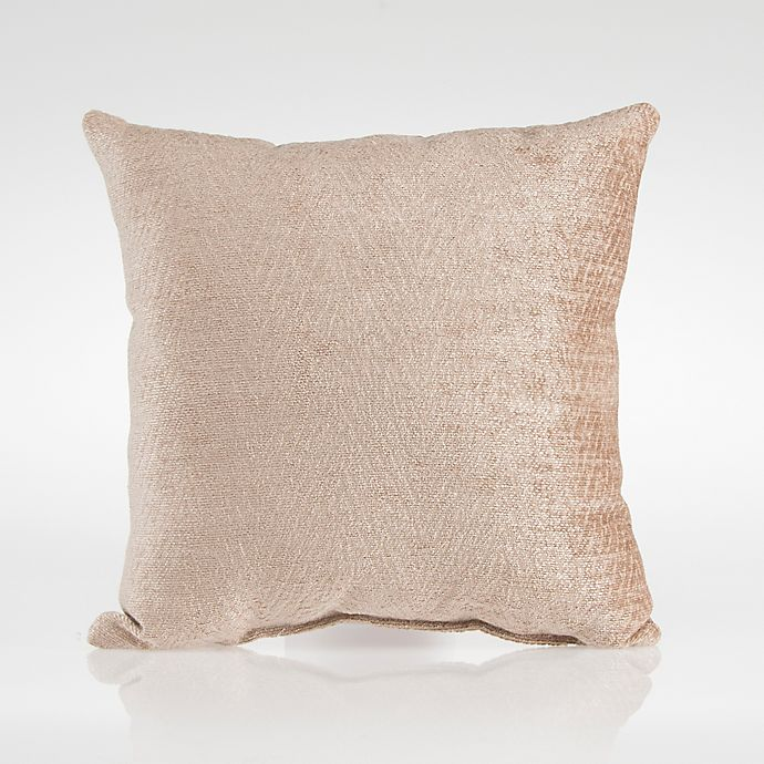 Alternate image 1 for Glenna Jean Dylan Velvet Square Throw Pillow in Tan