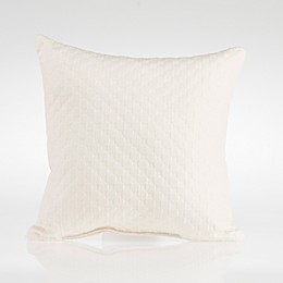Glenna Jean Dylan Velvet Square Throw Pillow in Cream