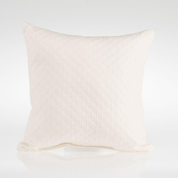 Alternate image 1 for Glenna Jean Dylan Velvet Square Throw Pillow in Cream