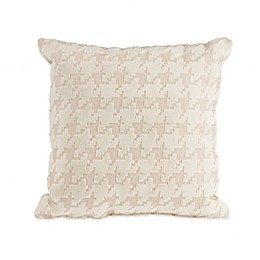 Glenna Jean Fly-By Houndstooth Throw Pillow in Cream