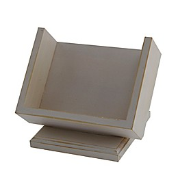 Thirstystone® Wood Square Pedestal Coaster Caddy in Whitewash