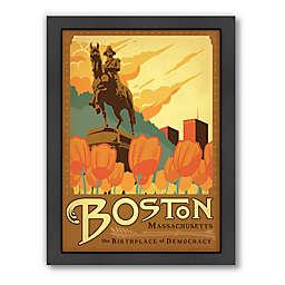 Americanflat Boston 27.5-Inch x 21.5-Inch Framed Wall Art