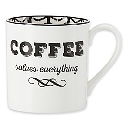 "Lenox® Bistro Place ""Coffee Solves Everything"" Mug"