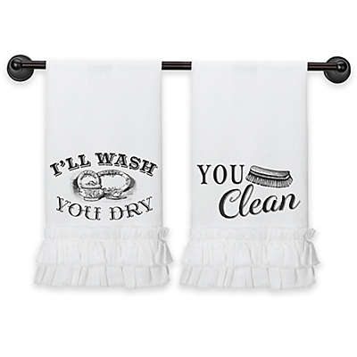 Lillian Rose™ Cotton Kitchen Towels in White