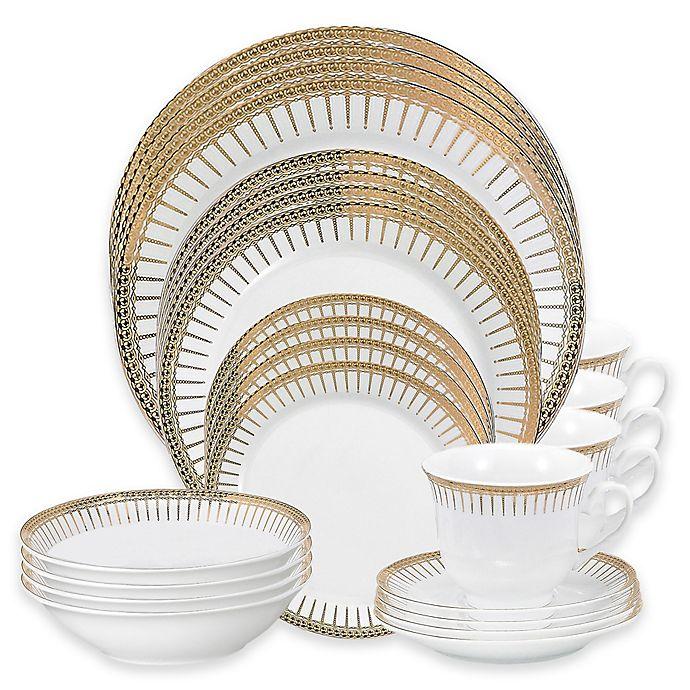 Alternate image 1 for Lorren Home Trends Aria 24-Piece Dinnerware Set