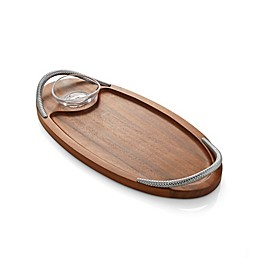 Nambe Braid Bread Board with Dipping Bowl