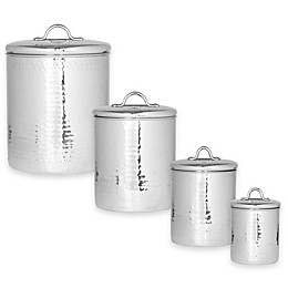 Old Dutch International Hammered Stainless Steel 4-Piece Canister Set