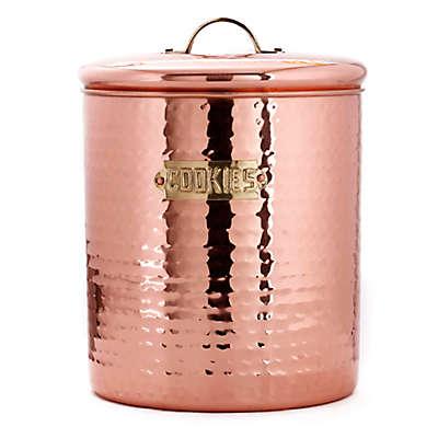 Old Dutch International Hammered Décor Copper Cookie Jar