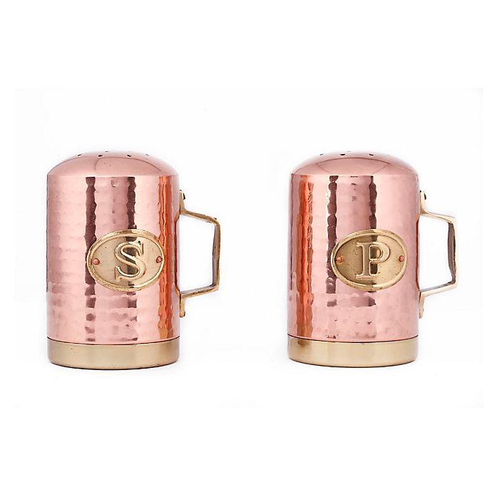 Alternate image 1 for Old Dutch International Copper-Plated Hammered Salt and Pepper Shaker Set