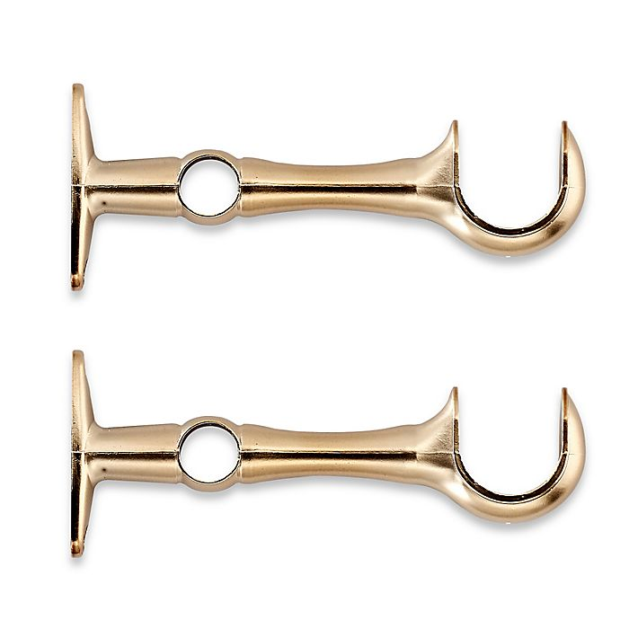 Alternate image 1 for Cambria® Premier Window Curtain Double Replacement Brackets in Warm Gold