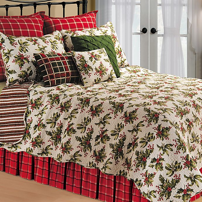 Mistletoe Reversible Quilt In Cream Bed Bath Amp Beyond