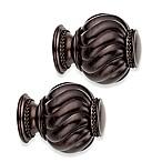 Cambria® Premier Twist Ball Finials in Oil Rubbed Bronze (Set of 2)