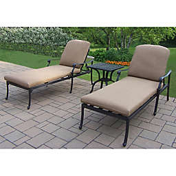Oakland Living Clairmont 3-Piece Chaise Lounge Set
