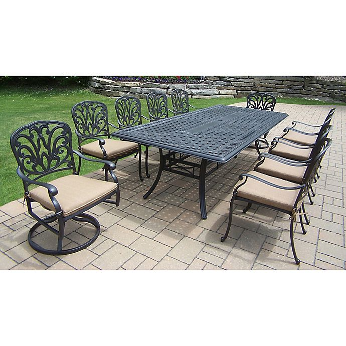 Oakland Living Clairmont 11 Piece Outdoor Dining Set Bed Bath Beyond
