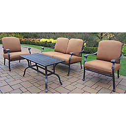 Oakland Living Clairmont 4-Piece Conversation Set in Antique Bronze