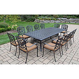 Oakland Living Clairmont 13-Piece Outdoor Dining Set in Antique Bronze
