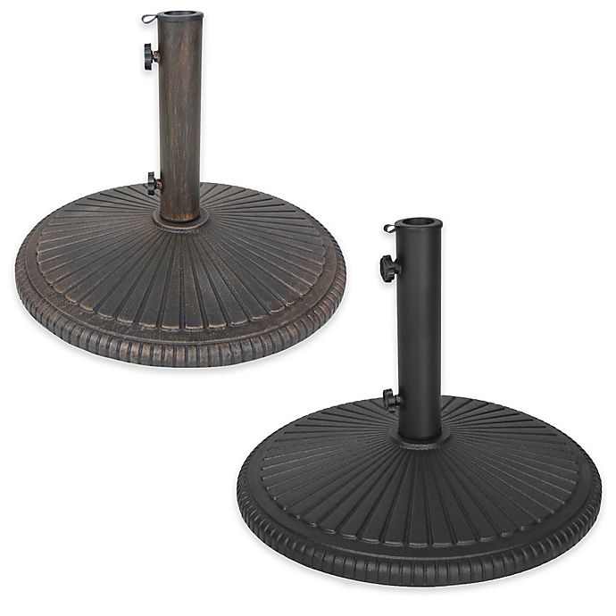 Oakland Living Sunfan Heavy Duty Cast Iron Umbrella Stand